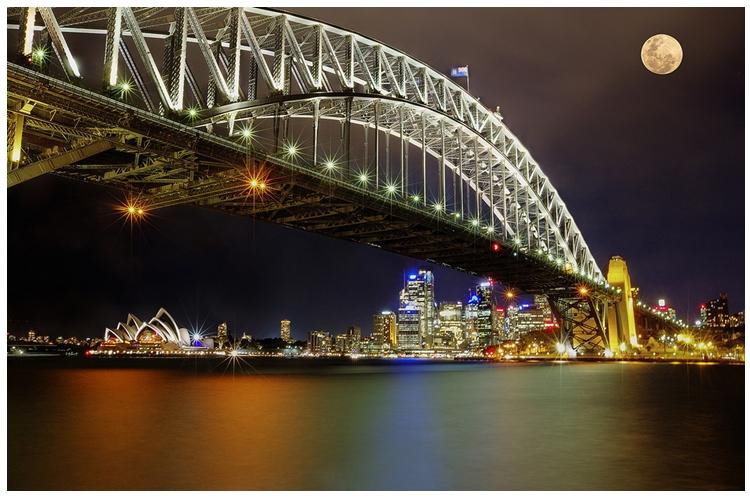 Supermoon di Sydney Bridge Opera House [Foto: Flickr.com/rexboggs5]