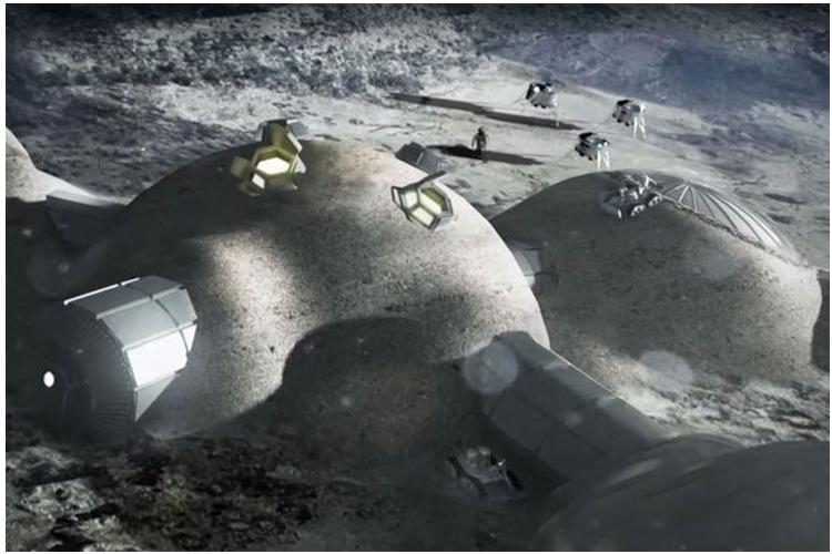 Rencana bentuk resor di Bulan [Foto: ESA]
