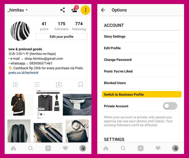 Cara Mengubah Profil Instagram Pribadi Menjadi Profil Bisnis Labana Id